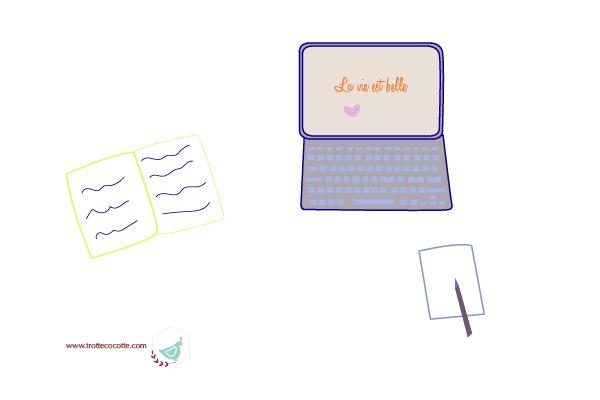 travail-ordinateur-stylo-trottecocotte